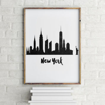 New york city inspirational artnew york printable artnew york black and