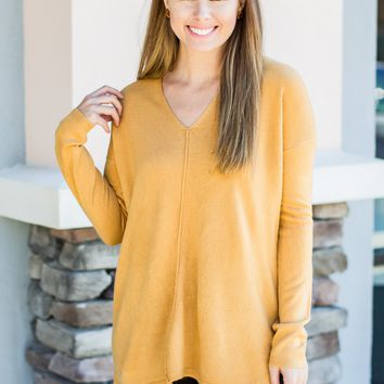 Get To It Sweater - Marigold