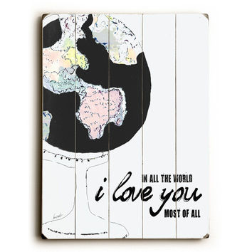 I Love You by Artist Lisa Weedn Wood Sign