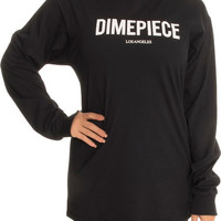 The Dimepiece Logo LS Tee in Black
