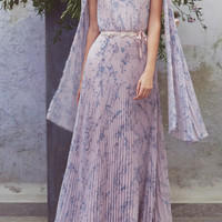 Printed Plisse Cape Dress | Moda Operandi
