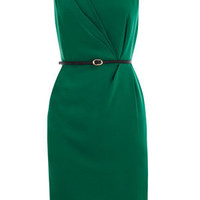 Oasis Formal | Deep Green Twist Side Shift Dress | Womens Fashion Clothing | Oasis Stores UK