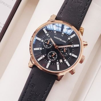 Montblanc Men Fashion Quartz Watches Wrist Watch