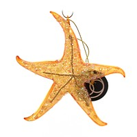 Holiday Ornaments Starfish Glass Ornament