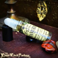 MANIFEST Elixir 1/3 oz. Body Oil Roll-On. Dragon's Blood Scent Charged with Red Tigers Eye. Black Obsidian and Citrine Crystals for Spiritual Growth, Law of Attraction, Manifestation, Abundance, Prosperity