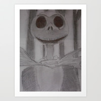 Jack The Pumpkin King  Art Print by Oksana's Art