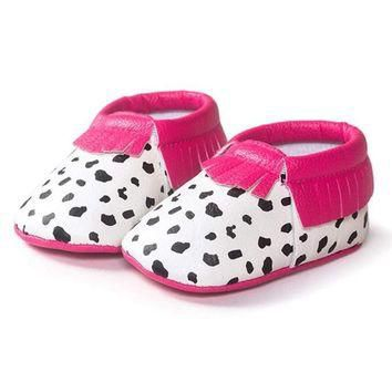 Cute Baby Shoes First Walker Tassel Cow Design Newborn Baby Girls Leather Brand Casual