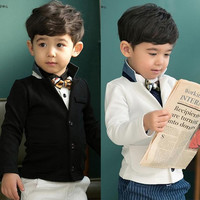 Hot! Korea Children Boys Long Sleeve Gentlemen Outwear Kids Clothing Turn-down Collar With Pocket Casual Jackets Childs All-match Tops.
