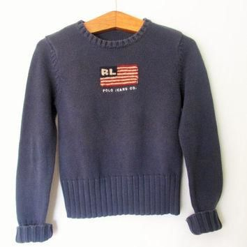 Vintage 1990s American Flag Ralph Lauren Polo Sweater