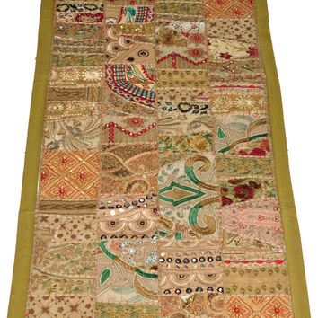 Huge patchwork Indian tapestry, wall hanging patchwork wall art decor Table runner, uzbek, gypsy, tribal, ethnic wall hanging tapestry decor