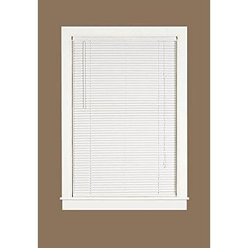 Midnight Collection 1-Inch Room Darkening White Mini Blind (36 inch  x 64 inch )