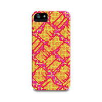 Yellow Pink Graffiti iPhone 5 Case, iPhone 4, iPhone 4S, Samsung Galaxy S4, iPhone5 Case, iPhone Cover, Trendy Teen Phone Case