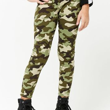 Girls Camo Leggings (Kids)