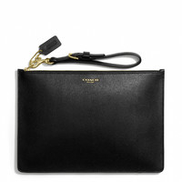 FLAT ZIP CASE IN SAFFIANO LEATHER