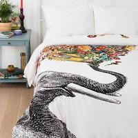 RococcoLA Happy Elephant Duvet Cover- Multi