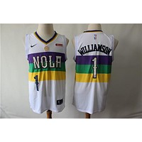 New Orleans Pelicans 1 Zion Williamson City Edition Swingman Jersey