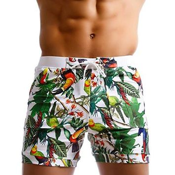 Taddlee Flower Print Surf Board Boxer Shorts