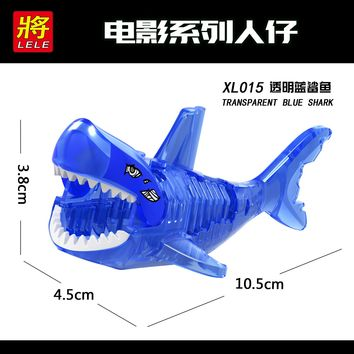 XL015 Single Sale Legoing Pirates Of The Caribbean Figure Ghost Zombie Shark Building Blocks Bricks Legoings Figures Toys Kids