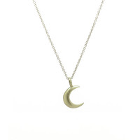 Vermeil Half Moon Charm Necklace - Rachael Ryen Jewelry