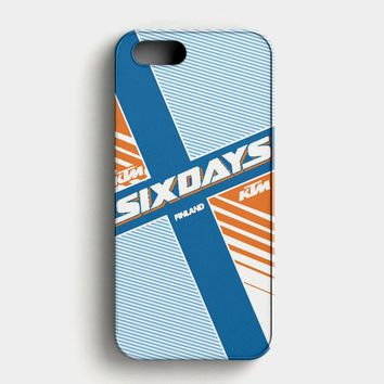Ktm Motorcycle Six Days Finland Mx iPhone SE Case