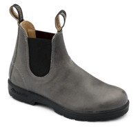 Steel Grey Premium Leather Chelsea Boots - Blundstone USA