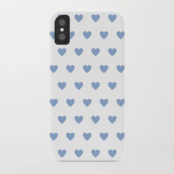 Lilac polka dot hearts iPhone Case by wackapacka