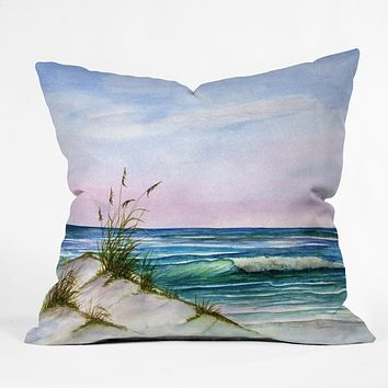 Rosie Brown Okaloosa Beach Throw Pillow