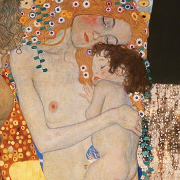 Free shipping,Gustav Klimt Mother and Child,HOME WALL Decor Prints Realistic Oil Painting Printed On CANVAS ART -2202