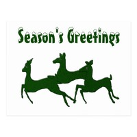 Myrtle Bucks Season's Greetings Postcard