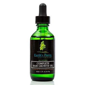 Earth's Purity Complete Hair Growth Oil Deep Scalp Healing Oil for Hair Growth and Regrowth of Hair on Edges and Bald Spots