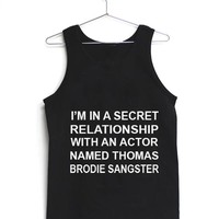 relationship with thomas brodie sangster Adult tank top men and women