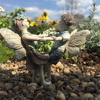 Miniature Fairy Garden Limited Edition Boy and Girl Fairies Dancing Isaac and Ivy
