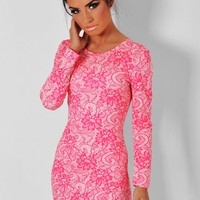 Tulips Pink Floral Print Asymmetric Mini Dress | Pink Boutique