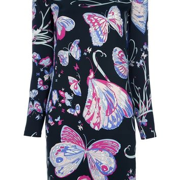 Emilio Pucci Butterfly Printed Dress