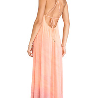 Gypsy 05 Desouk Tie Back Maxi Dress in Peach