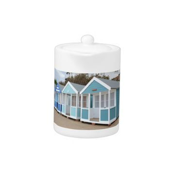 Beach Huts At Southwold Teapot