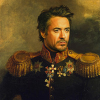 Robert Downey Jr. - replaceface Art Print by Replaceface