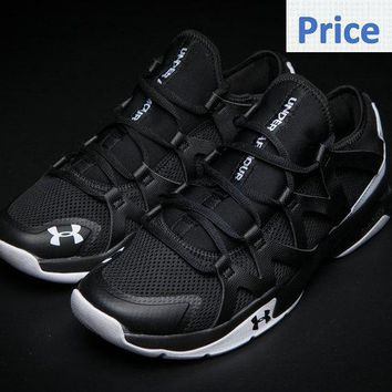 Fashion UA Under Armour Charged Phenom 2 Athletic Run Shoes 2017 Black White shoes