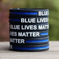 3PCS Blue Lives Matter Wristband for adults Police Officers Patrol Awareness Support and Outdoor Sports