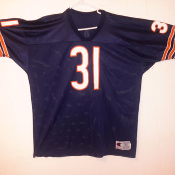 Vintage Champion 90s Chicago Bears  Rashaan Salaam Jersey Retro  Dope Primetime Throwback McMahon