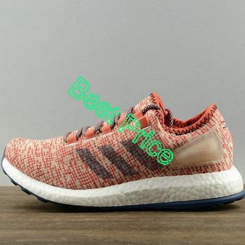 Sneaker paint 2018 Adidas Pure Boost Clima Mens Running Sneakers China Pink White Brown S82101 sneaker