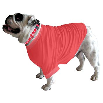 English Bulldog BIGGER THAN BEEFY Long T-Shirt - Fits 56 to 80 Pound Dog - Available in 6 Colors!