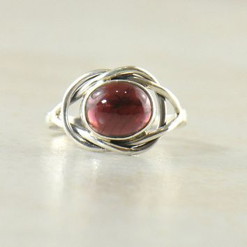 Enigma Ring in Sterling Silver - Choice of Gemstone