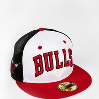 New Era 59Fifty Team Word Chicago Bulls Trucker Cap