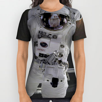 Highway Astronaut, Explore the World All Over Print Shirt by Zurine