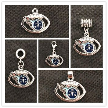 Football Team Tennessee Titans Charms Pendant For DIY Necklace & Bracelet & Earring & Key Chain 10pcs/lot