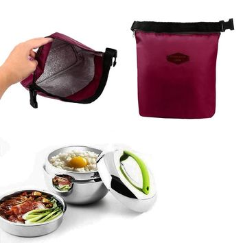 1pc New Protable Waterproof Thermal Cooler Insulated Lunch Box