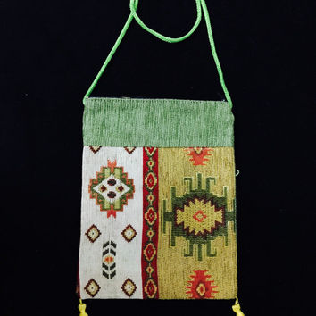 gypsy bag wallet purse tribal purse handmade boho bag crossbody shoulder bag  bohemian bag wool fabric hobo hippie bag sling purse ethnic