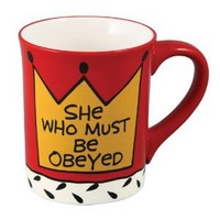Enesco Our Name Is Mud by Lorrie Veasey She Who Obeyed Mug, 4-1/2-Inch