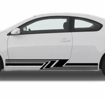 SCION TC CAR VINYL SIDE GRAPHICS DECAL ANY CAR 009
